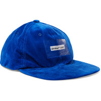 Off-White - Appliquéd velvet baseball cap