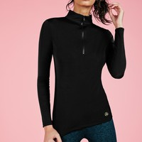Missguided - Active Zip Front Long Sleeve Running Top Black