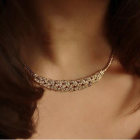 Bib Pendant Chain Choker Necklace