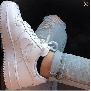 "Hot Sale ""NIKE'' Trending Women Men Stylish Sport Shoes Sneakers Air force White"