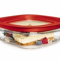 Rubbermaid Easy Find Lid Premier Food Storage Container, Red, 3-cup (FG7H76TRCHILI)