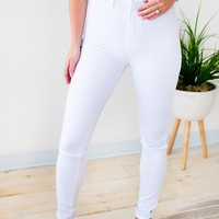 Casablanca White High Waist Skinny Jeans