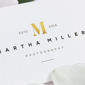 DIY LOGO - Instant Download - Photography Logo. Premade Logo. Gold Glitter Logo. Business Logo. Logo Template. Photographer Logo. Gold Logo