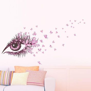 Butterfly DIY Vinyl Butterflies Decoration Removable Girls Eye Wall Art wall stickers for kids rooms Decal  #2012