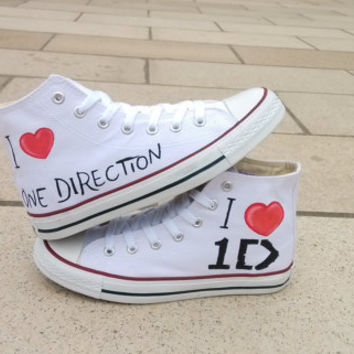 One Direction Converse Shoes-Hand Paint Converse Sneakers, Custom Converse,Special Christmas Gift,Birthday gift,Can also custom for kid