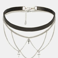 ALDO Cherifa Choker Multirow Chain Necklace