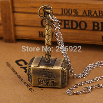 Titanium Steel Necklace Charms Thor hammer Gold | Tophatter
