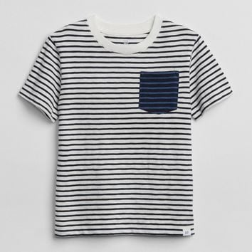 Stripe Colorblock T-Shirt|gap