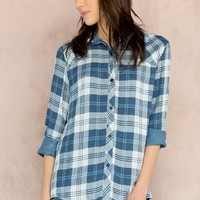 Whittier Plaid Buttoned Blouse