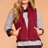 Vail Burgundy Quilted Vest