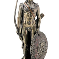Apollo Greek God of Music and Archery Statue Bronze Finish 11.75H