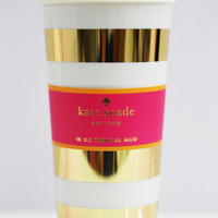 Gold Stripe Thermal Mug: Kate Spade