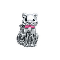 Cat Silver Floating Charm