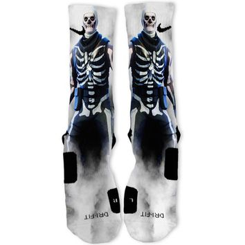 Fortnite Skull Trooper Custom Nike Elite Socks