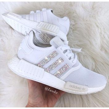 Beauty Ticks Adidas Nmd Fashion Glittering Breathable Running Sports Shoes Sneakers