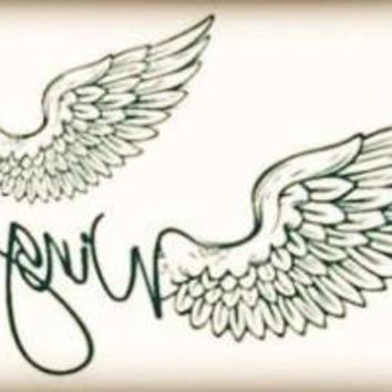 Cute Wings angle Body Art ~Waterproof Temporary Tattoo Stickers