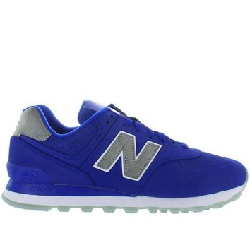 LMFON new balance 574 royal blue suede classic running sneaker