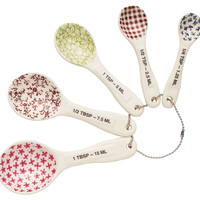 Patterned Measuring Spoons, Cooking Prep Tools