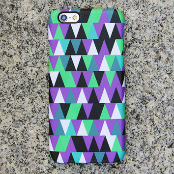 Violet Geometric iPhone 6 iPhone 6 plus Case Triangle iPhone 5S 5 iPhone 5C iPhone 4S/4 Case Green Samsung Galaxy S6 edge S6 S5 S4 Case 043