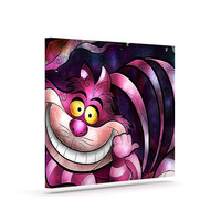 "Mandie Manzano ""Chesire Cat"" Pink Purple Canvas Art"