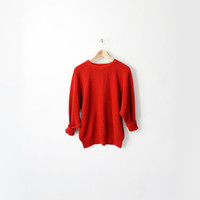 Vintage Red Chunky Knit Older Brother by twigandspokevintage