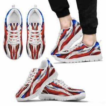 AMERICA FLAG WHITE SNEAKERS Men's Tennis Shoes