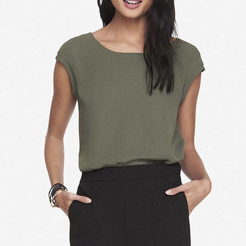 REVERSIBLE CREPE TEE from EXPRESS