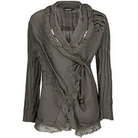 Forla Paris Wrap Cardigan Sweater - Polyvore