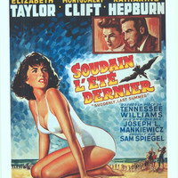 Suddenly Last Summer (Belgian) 11x17 Movie Poster (1960)