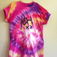 Tie- Dyed 5 seconds of summer 'Ash' t-shirt