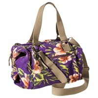 Mossimo Supply Co. Floral Weekender Tote Handbag with Removable Strap - Purple