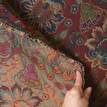 Fabric Large piece of Floral Upholstery Fabric 3 yards