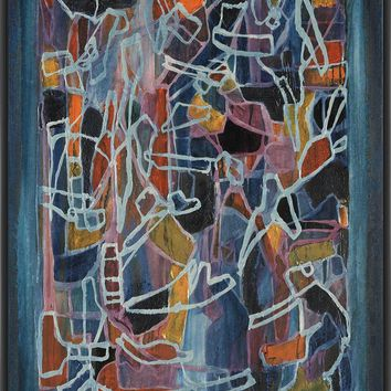 ARTICULATED COLOR X 22L X 28H Floater Framed Art Giclee Wrapped Canvas