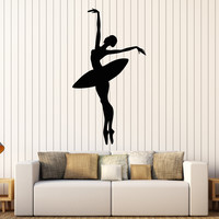Vinyl Wall Decal Ballet Dancer Ballerina Girl Dance Stickers Unique Gift (ig4313)