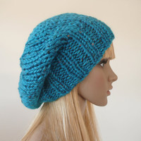 Knit hat  Slouch Beanie Winter accessories