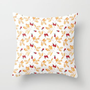 Floral watercolor Throw Pillow by Angelina May