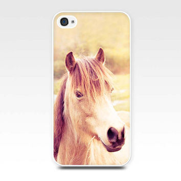 horse iphone case iphone 4 4s 5 horse photography nature vintage cream brown equine pony photo art autumn fall photo cover iphone 4 4s 5