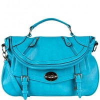 Allison Foldover Buckle Satchel