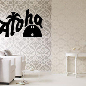 Aloha quote wall sticker quote decal wall art decor 4606