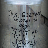 Personalized Grandma Cup, Personalized Grandpa cup, Nana cup, Mimi cup, Grams cup, Personalized Grandparents Tumbler, Personalized Tumbler
