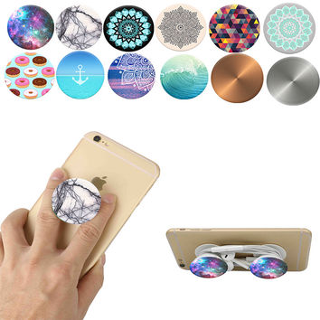 2016 New Beautiful Finger Holder Pop Socket Phone Smartphone Desk stand Grip PopSocket Mount For Apple Samsung phone ring