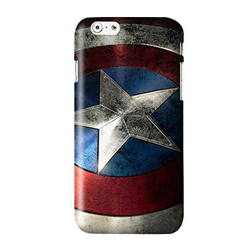 Captain America Shield Snap on Plastic Case Cover Compatible with Apple iPhone 6/6s