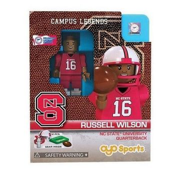 Russell Wilson NC State Wolfpack Minifigure by Oyo Sports NIB NCSU Pack ACC