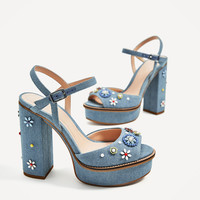 FLORAL PLATFORM SANDALS - NEW IN-WOMAN | ZARA United States