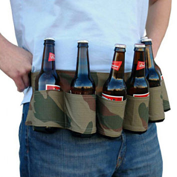 New 6 Pack Soda Wine Beer Can Belt Carrier Holder Home Outdoor Party Beer & Soda Drink Tool