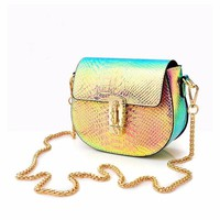 Holographic Saddle Bag