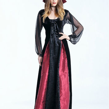 MOONIGHT New Women Vampire Costumes Cosplay Gothic Vampire Outfit The Queen Vampire Role Play Clothing