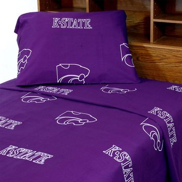 Kansas State Wildcats Bed Sheets Collegiate Purple Bedding