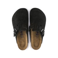 Boston Soft Footbed Black Suede | shop online at BIRKENSTOCK