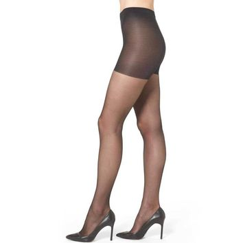 Wolford Individual 10 Black Control Top Pantyhose